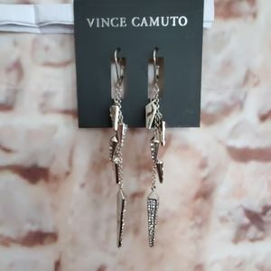 New Vince Camuto Pave Linear Earrings